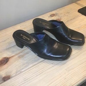 Liz Claiborne Black Geya Slide on Heels
